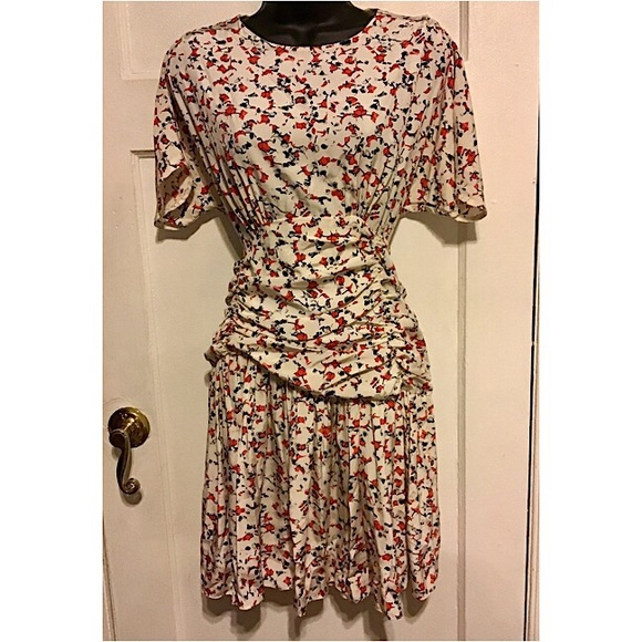 UNKNOWN Dresses & Skirts - Silk Floral mini dress Made in France